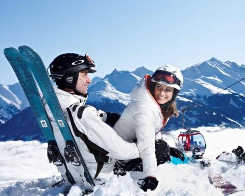 Зимняя сказка на горнолыжном курорте