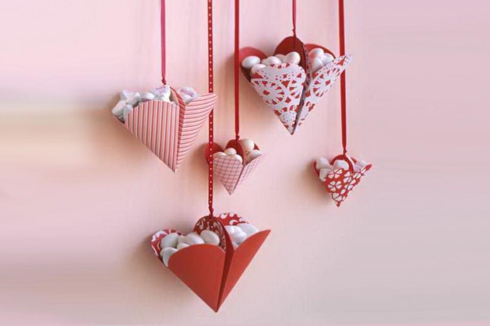 Сердечки с конфетами ко Дню Св. Валентина