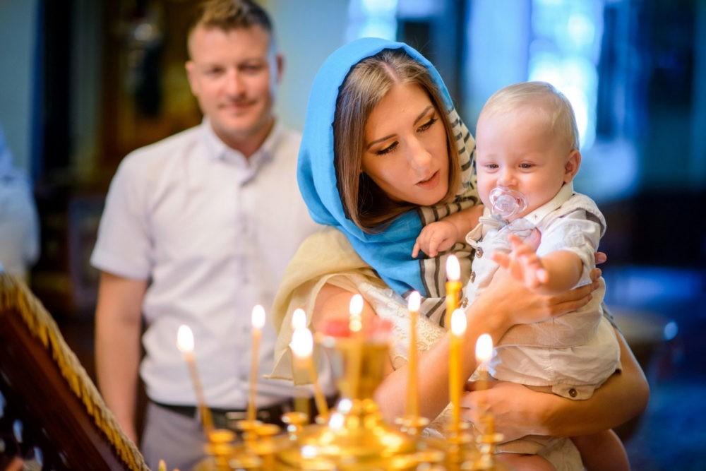 Крещение новорожденного ребенка