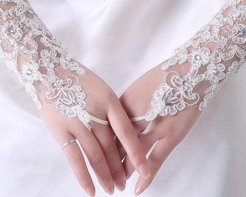 Как подобрать перчатки к свадебному платью