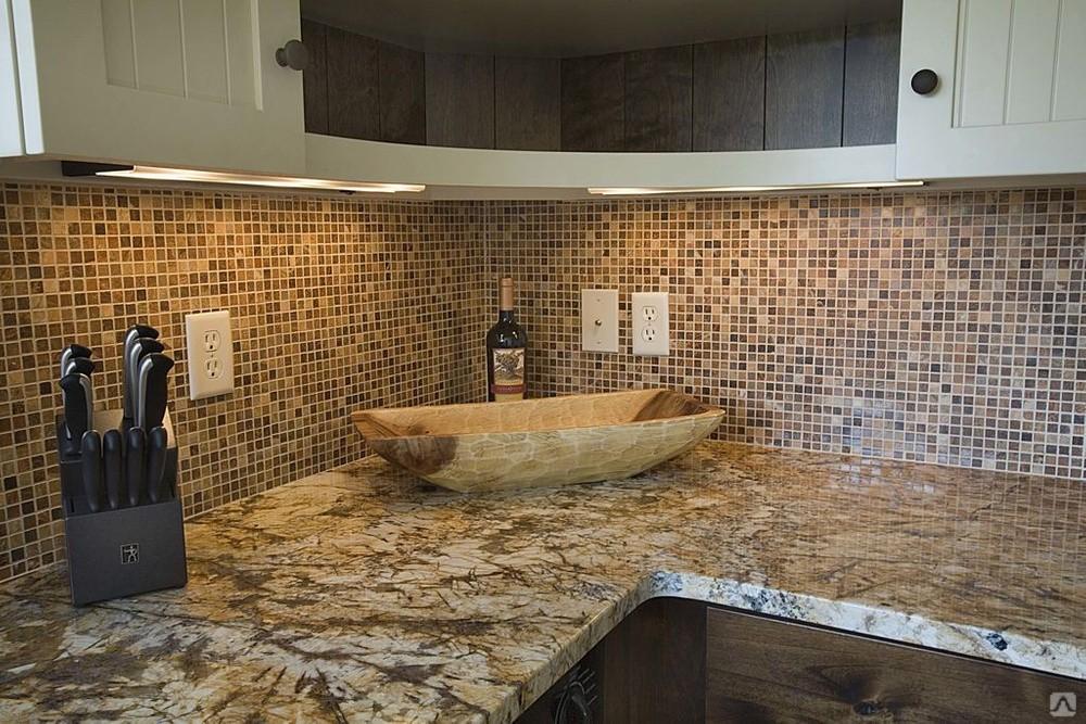 Кухонный фартук из мозаики своими руками