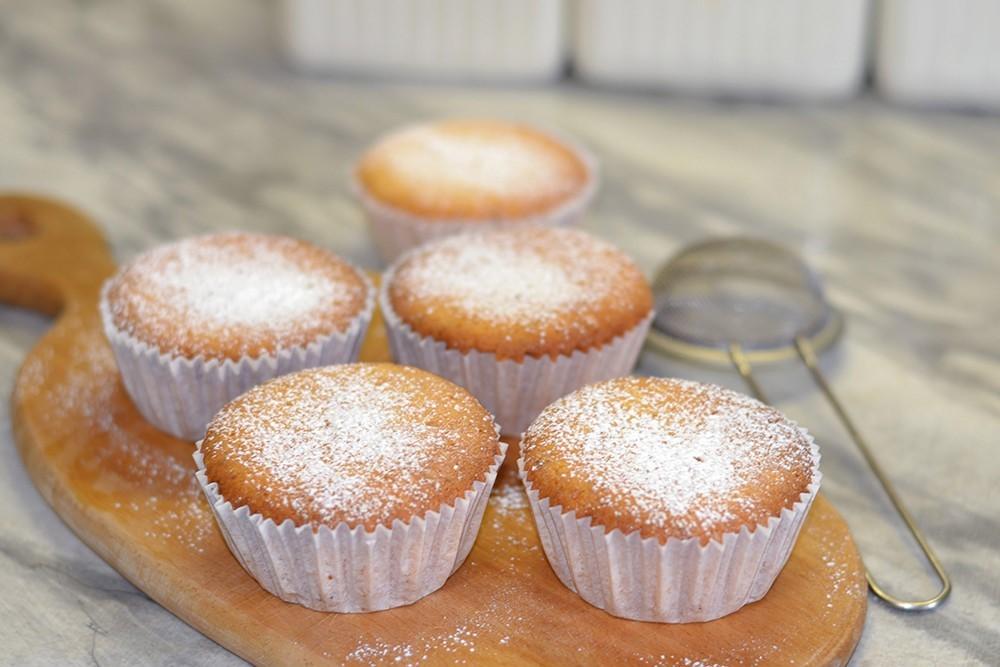 Творожные кексы в силиконовых формочках: рецепт