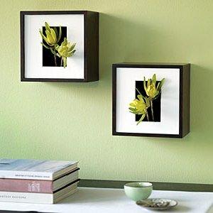 Украшение стен цветами
