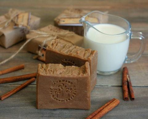 Мыло с кофе, шоколадом и корицей