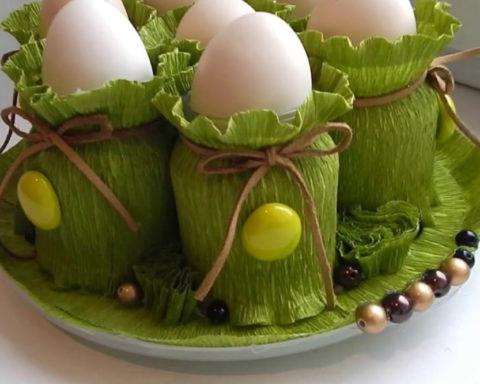 Пасхальные подставки для яиц