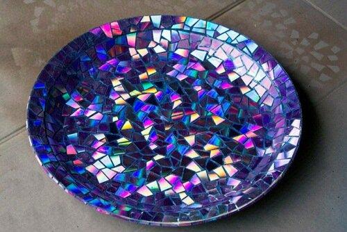Мозаика на керамическом блюде