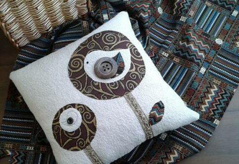 Декоративная наволочка для подушки «Сказочные деревья»