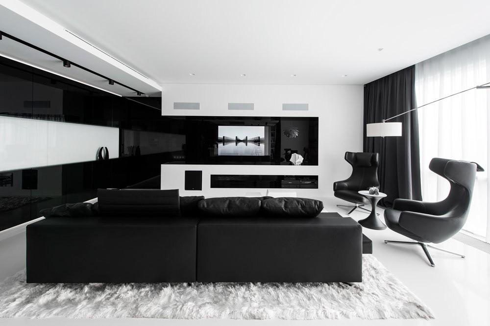 Интерьер в черно-белом стиле: раскрываем секреты