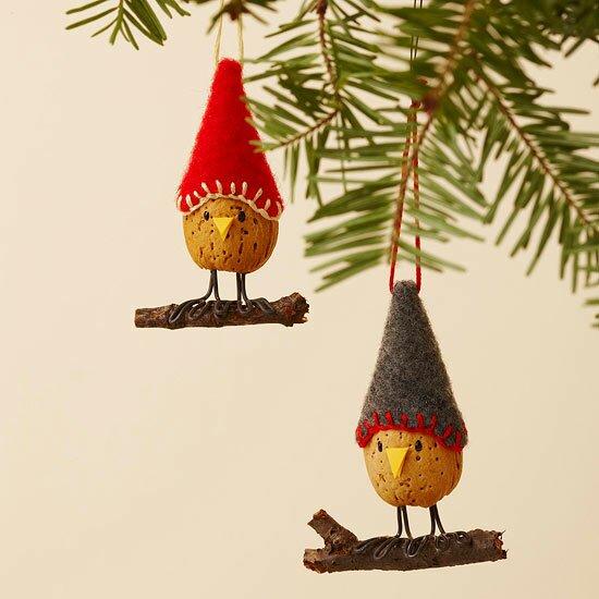 Оригинальные игрушки на елку своими руками