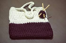 Вязаная сумка стильная и элегантная