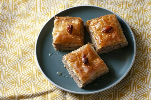 Восточные десерты кок-самса, пахлава, ли-нон ─ разнообразие вкуса