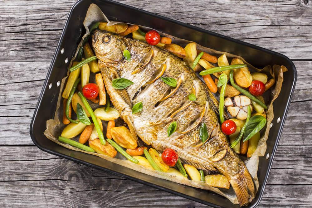 Рыба с овощами в духовке от Сержа Марковича