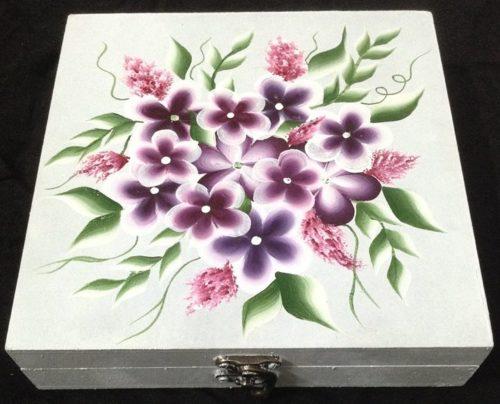 Техника «двойной мазок»: декорируем шкатулку