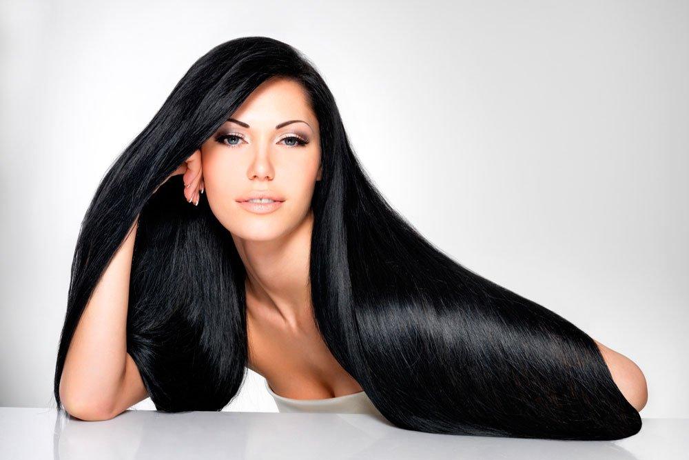 Черные волосы: ночной уход