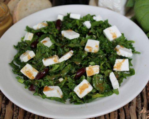 Заправка для салата с сыром фета