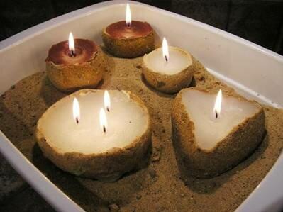 Свечи в песке своими руками