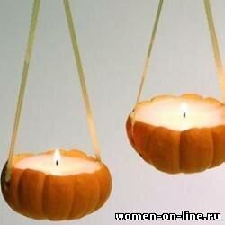 Свечи в тыквах своими руками