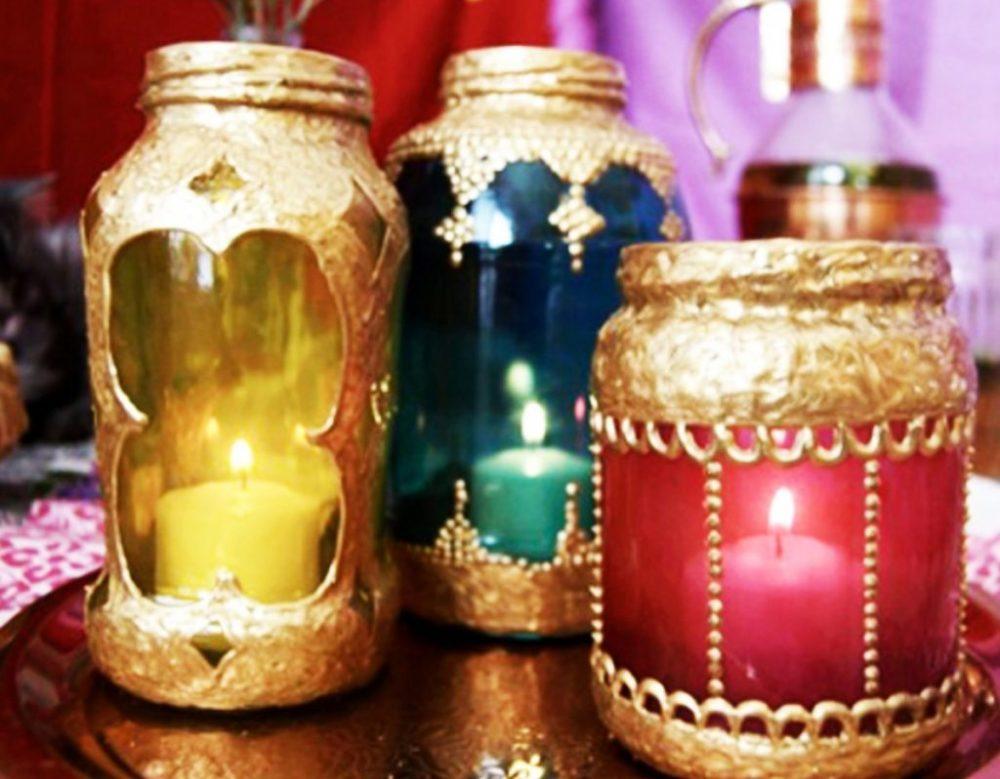 Марокканские светильники из стеклянных банок