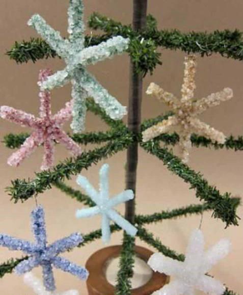 Кристальные снежинки из боракса