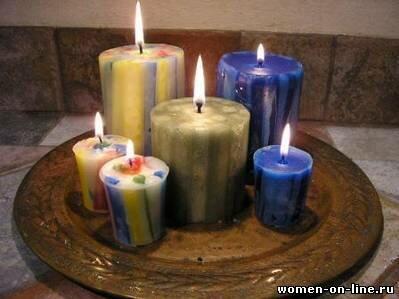 Декоративные свечи из брусков