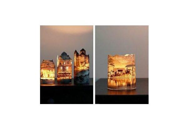 Декоративные светильники-замки