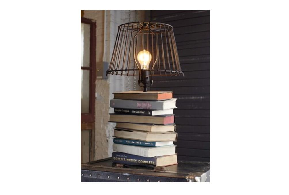 Настольная лампа своими руками из книг