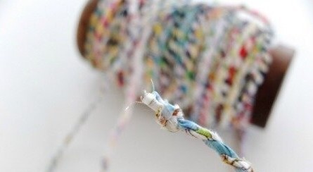 Как сделать шнур из лоскутков ткани