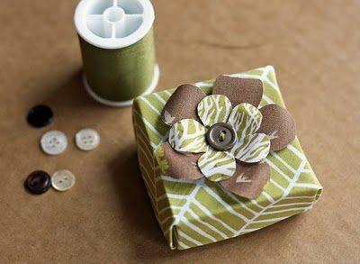 Коробочка оригами из ткани
