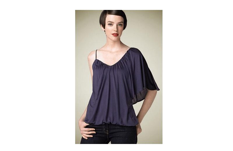 Как сшить блузку: двухслойная модель на одно плечо