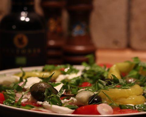 Заправка для салата с белым вином