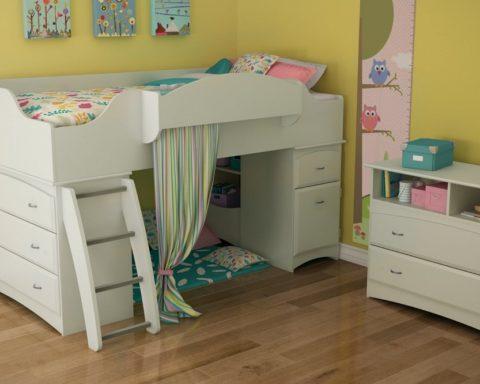Чем хороша детская кровать-чердак?