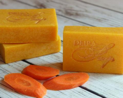 Мыло ручной работы с морковным соком