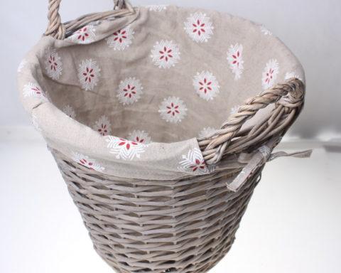 Как сделать корзинки с подкладкой из ткани