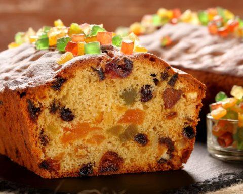 Кекс с сухофруктами и орехами, простой и вкусный