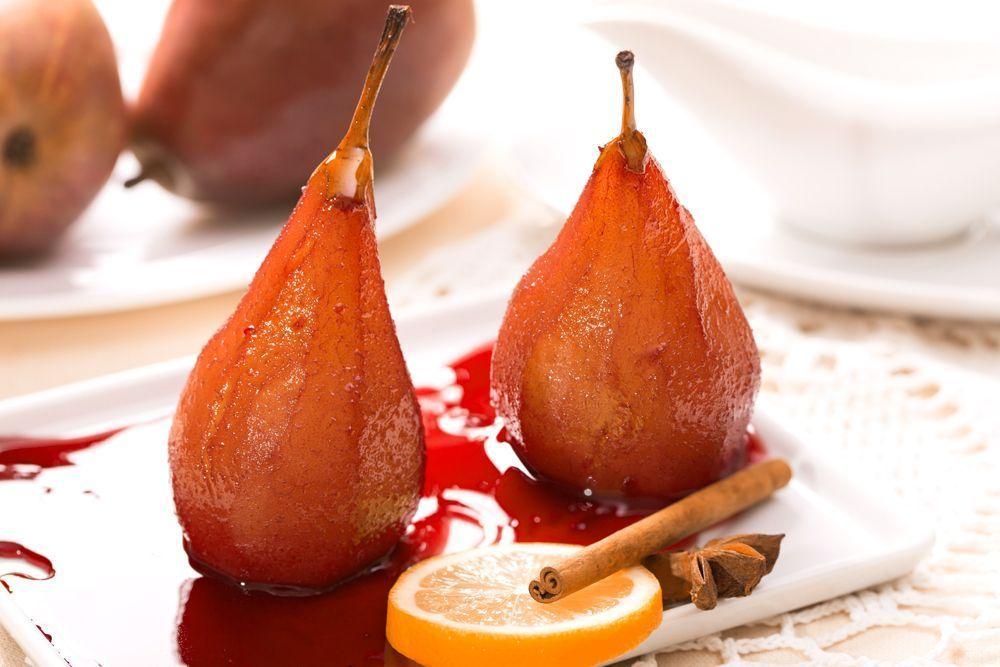 Фруктовый десерт «Пьяная груша»