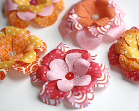 Цветы из ткани для украшения