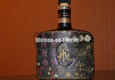 Мастер класс: прямой декупаж бутылки