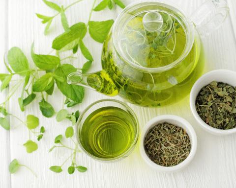 Зеленый чай на фото