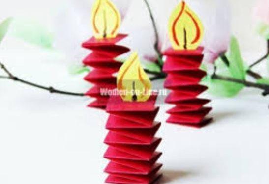 Как сделать свечу из бумаги